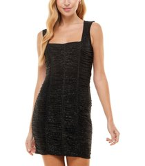 crystal doll juniors' all over ruched bodycon dress