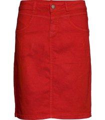 amaliecr skirt kort kjol röd cream