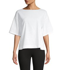 dropped-shoulder cropped tee