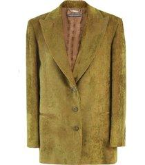 alberta ferretti corduroy jacket