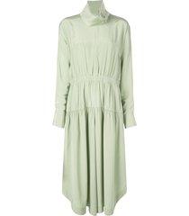 tibi elastic waist jumpsuit - green