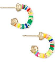 """kendra scott extra-small disc-bead huggie hoop earrings, 0.4"""""""