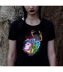 koszulka czarna damska organiczna lady skull