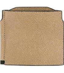 valextra foldover square wallet - neutrals