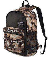 mochila marrón puma academy unisex