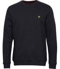 branded ringer sweatshirt sweat-shirt trui blauw lyle & scott