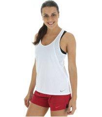 camiseta regata nike run tank - feminina - branco
