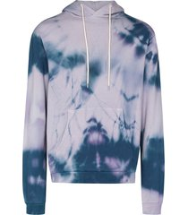 john elliott beach tie-dye cotton hoodie - purple