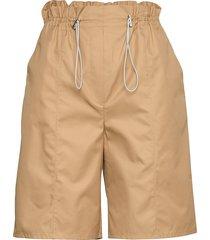high waist paperbag shorts shorts paper bag shorts beige designers, remix