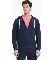 tommy hilfiger men's essential stretch pique cotton hoodie sky captain - xxl