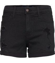 shorts shorts denim shorts svart hollister