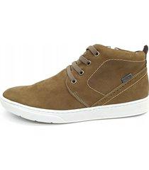 calçado sapatênis masculino em couro kéffor cor rato linha vibe - kanui