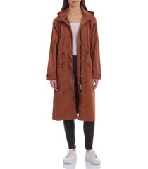 avec les filles oversize water resistant rain coat, size small in rust at nordstrom