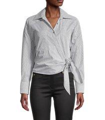iro women's kensing striped shirt - stripe grey - size 34 (2)