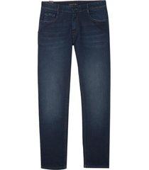 calça dudalina avesso blue jeans masculina (jeans escuro, 52)