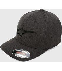 gorra negro-café alpinestars