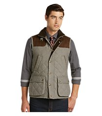 1905 collection traditional fit quilted herringbone vest clearance
