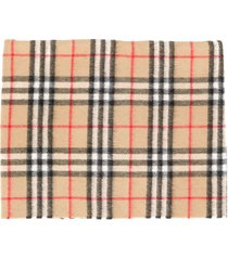 burberry beige cashmere check scarf