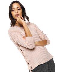 sweater  rosa monitricot  con atadura