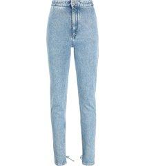 isabel marant blue cotton-blend jeans