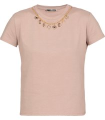 elisabetta franchi t-shirt with removable charm