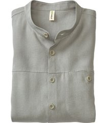 linnen overhemd 1/1-mouw, bleekgroen xl