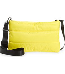 nordstrom puffer crossbody bag - yellow
