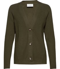 clarins-car stickad tröja cardigan grön free/quent