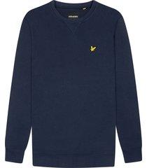 lyle and scott ml424vtr lyle&scott crew neck sweatshirt, z99 navy