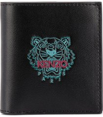 kenzo embroidered-logo wallet - black