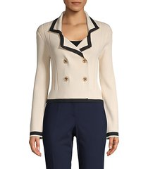 double-breasted cropped jacket