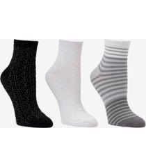 cuddl duds women's ankle socks, 3 pack