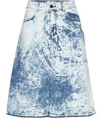 soft acid denim steffi knälång kjol blå mads nørgaard