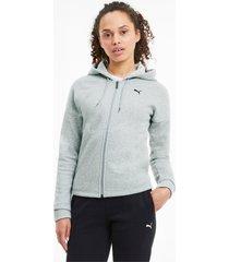 classics tricot trainingspak voor dames, grijs, maat xl | puma