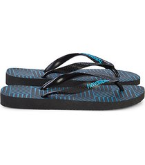 top graphic blocks rubber platform flip flops