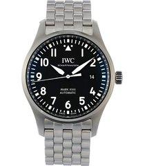 iwc schaffhausen 2020 unworn pilot's watch mark xviii 40mm - black
