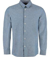 a.p.c. hector oxford cotton shirt