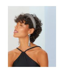 amaro feminino tiara de strass, preto