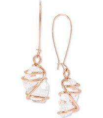 robert lee morris soho caged crystal drop earrings