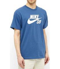 camiseta azul nike sb tee logo cv7539469