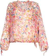 blouse met bloemenprint ava  roze