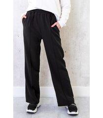 pantalon met elastiek zwart