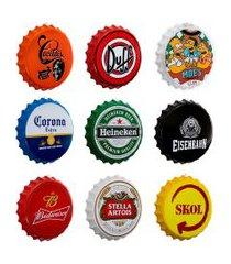 kit 9 placas decorativas tampas bebidas 35 cm redonda