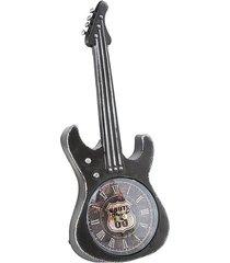 zegar stołowy gitara czarna