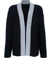 vest alba moda marine/zilverkleur/blauw