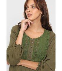 blusa verde wanama tina