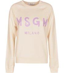 msgm regular milano logo print sweatshirt