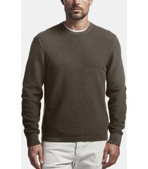 cotton cashmere thermal pullover