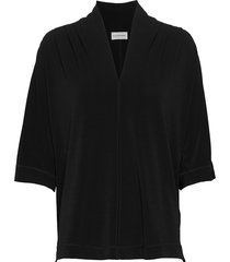 bijana blouses short-sleeved svart by malene birger