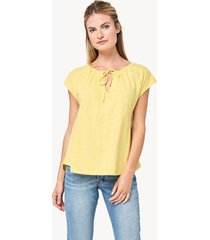 lilla p short sleeve split neck tee